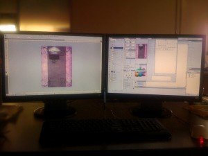 My Dual Screens At Azunga