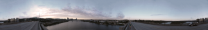 Ross Island Bridge Picture Panorama from Portland Or