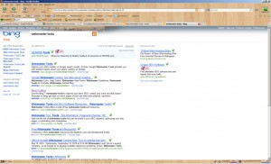 Bing Webmaster tools search on Bing.com